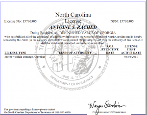North-Carolina-Auto-Appraiser-License