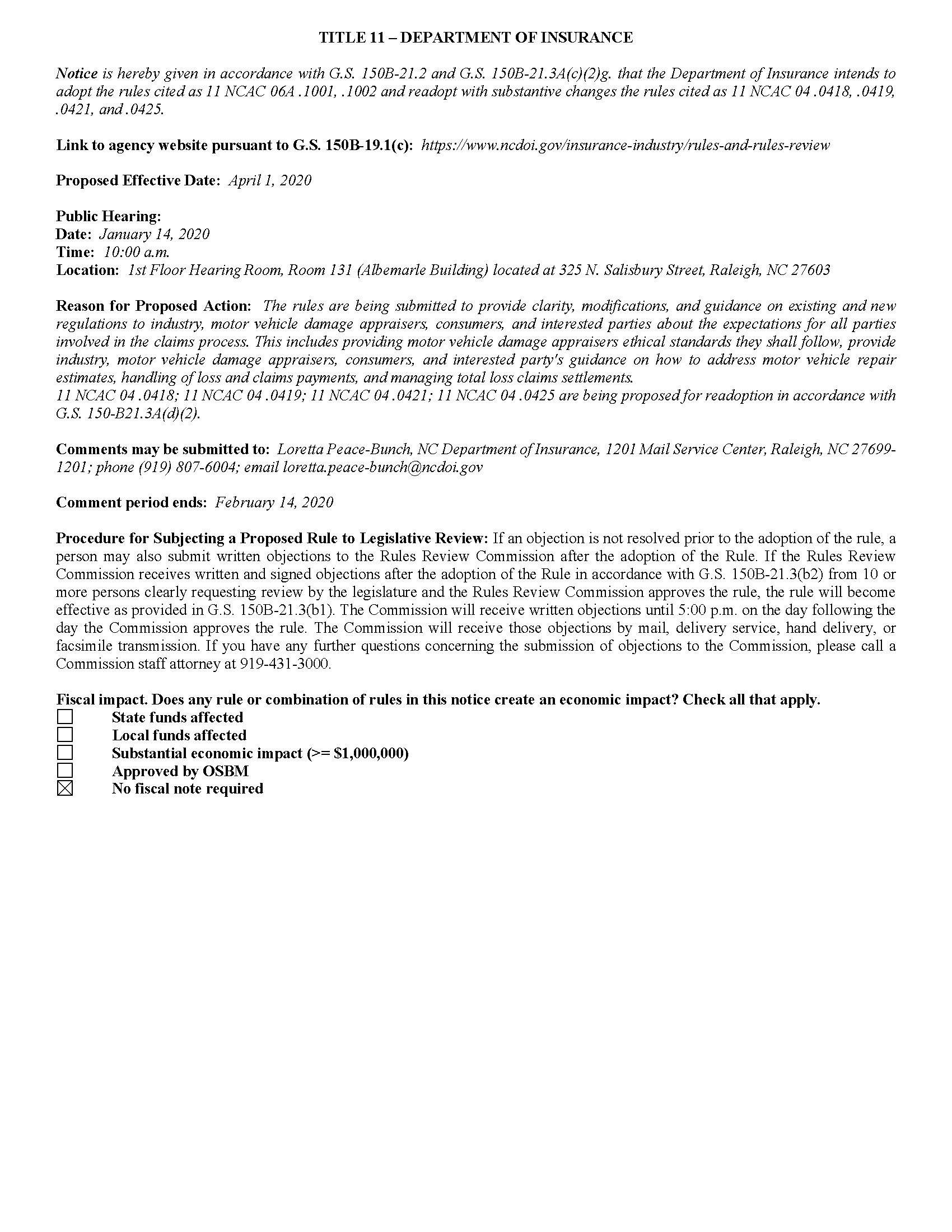 North Carolina – New Rules for Licensed Motor Vehicle Damage Appraisers_Page_1